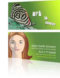 Art is Passion Business Card Design