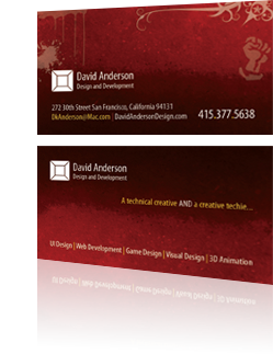 David Anderson Business Card Design