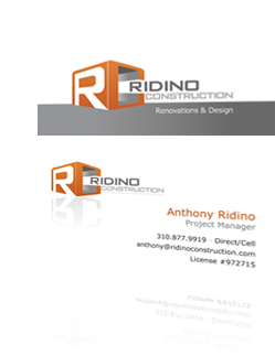Ridino Construction Logo & Business Card Design