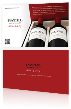 PATEL Napa Valley Mail Insert Design