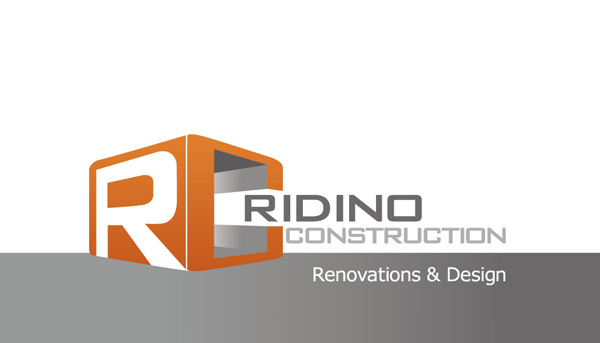 Print portfolio art is passion logo design business card design view screenshots ridino construction logo business card design reheart Image collections