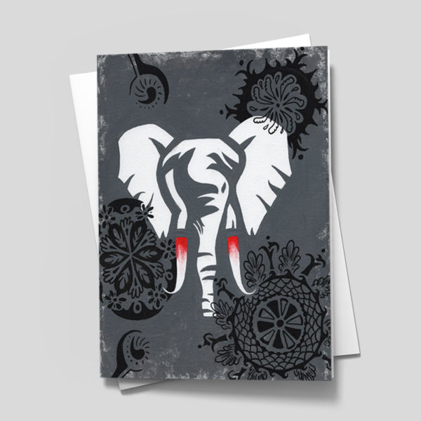 Elephant Prosperity Card - 5 x 7