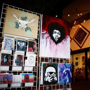 Mar Vista Artwalk Art is Passion Booth Setup