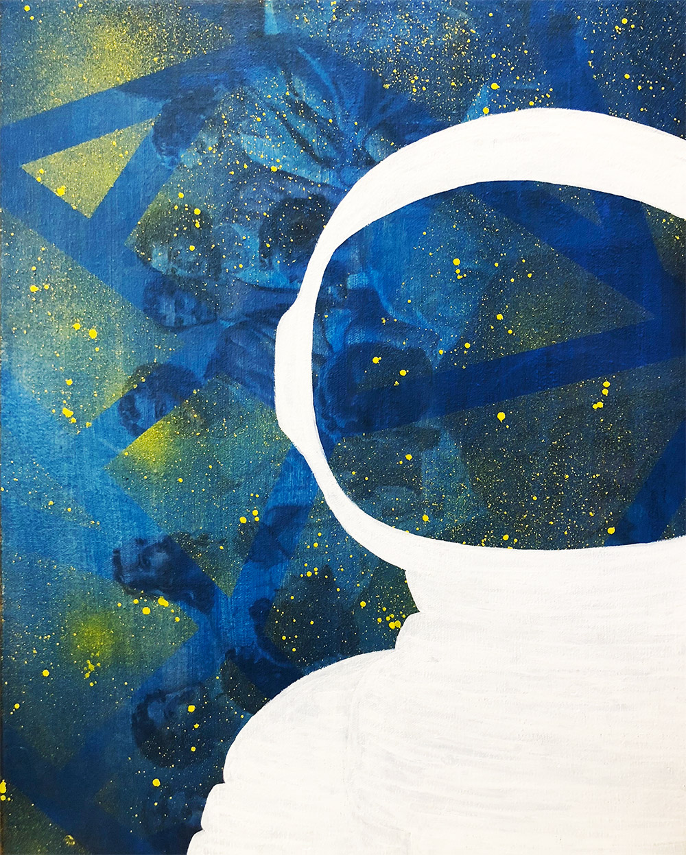 New Astronaut Painting in Progress
