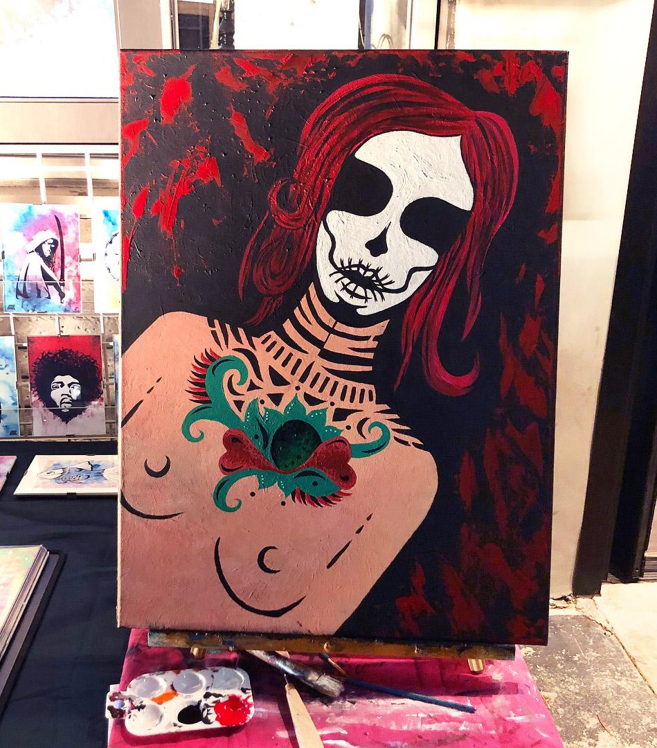 Día de los Muertos Live Painting by Allyn Beth Brown